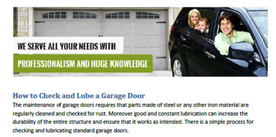 How to Check and Lube a Garage Door - Garage Door Repair Tiburon