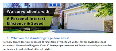 FAQs - Garage Door Repair Tiburon