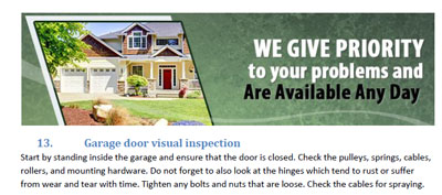 Tips - Garage Door Repair Tiburon